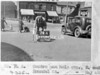 SK378874A, Man marking Ordnance Survey minor control revision point with an arrow in 1940s Sheffield