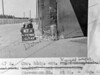 SK378847A, Man marking Ordnance Survey minor control revision point with an arrow in 1940s Sheffield