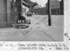 SK378844B, Man marking Ordnance Survey minor control revision point with an arrow in 1940s Sheffield