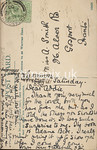 FGOS_00449r, Reverse of Edwardian postcard of Bridge Street, Southampton by FGO Stuart, posted in July 1908