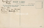 FGOS_01439, Reverse of Edwardian postcard of Lyndhurst, Hampshire, by FGO Stuart c1905