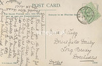 FGOS_01532r, Reverse of Edwardian Postcard of the Royal Oak Pub, Beaulieu, by FGO Stuart posted 1910