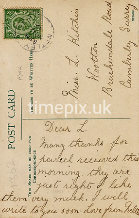 FGOS_01362r, Reverse of Edwardian postcard of Ocean Quay, Southampton by FGO Stuart, posted in 1912