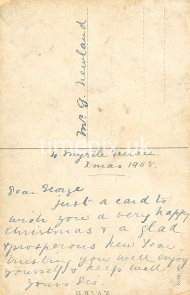 1908_HappyNewYear_r, Reverse of Edwardian postcard