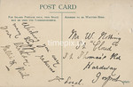 FGOS_01430, Reverse of Edwardian postcard of Town Quay, Southampton by FGO Stuart, 1900s