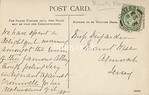 FGOS_00180r, Reverse of an Edwardian postcard of Netley Abbey by FGO Stuart, posted in 1908