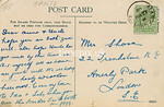 FGOS_01440r, Reverse of Edwardian postcard of Lyndhurst, Hampshire, by FGO Stuart posted 1908