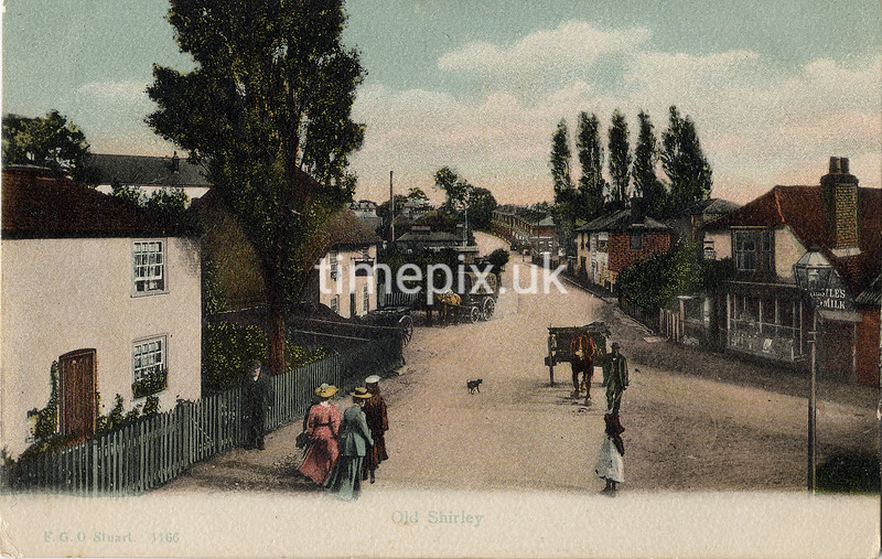 FGOS_01166, Edwardian postcard of Shirley, Southampton by FGO Stuart posted in 1909