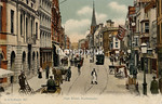 FGOS_00887b, Edwardian postcard of The High Street, Southampton by FGO Stuart posted in 1909