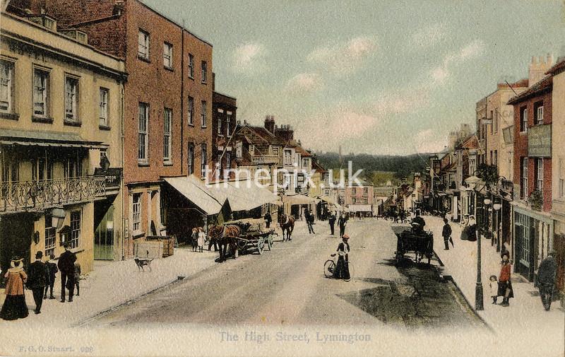 FGOS_00938, Edwardian postcard of High Street, Lymington by FGO Stuart