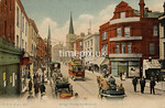 FGOS_00449,Edwardian postcard of Bridge Street, Southampton by FGO Stuart posted in 1908