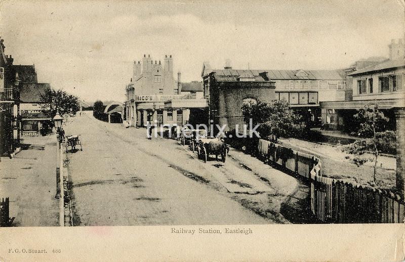 FGOS_01071a, Edwardian postcard of Eastleigh by FGO Stuart posted 1904