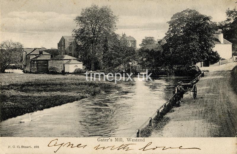 FGOS_00693, Edwardian postcard of West End, Southampton by FGO Stuart posted 1904
