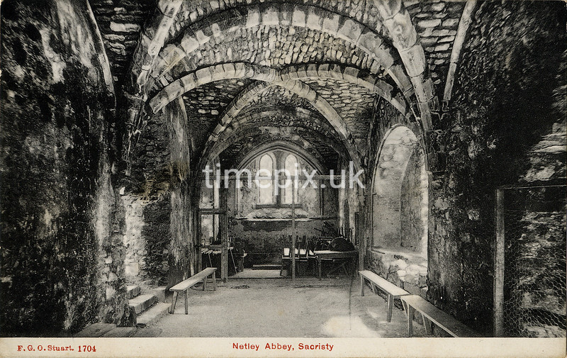 FGOS_01704, Edwardian postcard of Netley Abbey by FGO Stuart