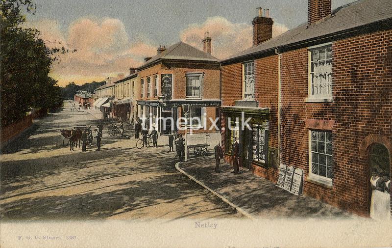 FGOS_01337, Edwardian postcard of Netley, Southampton by FGO Stuart posted in 1907
