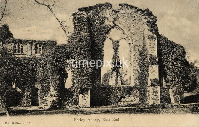 FGOS_00180, Edwardian postcard of Netley Abbey by FGO Stuart