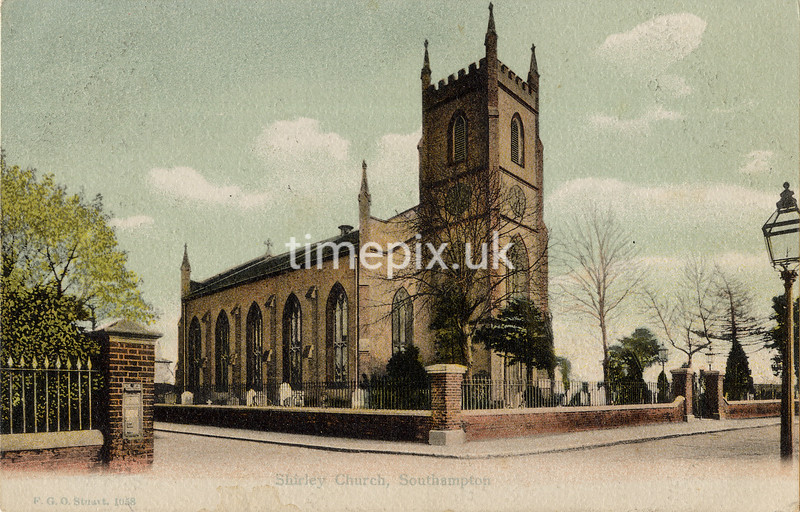 FGOS_1058, Edwardian postcard of Shirley, Southampton by FGO Stuart c1905