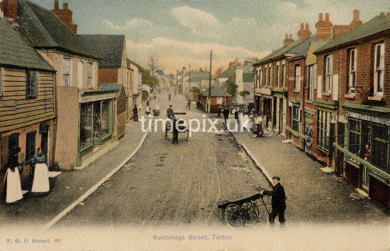 FGOS_00086, Edwardian postcard of Totton, Southampton by FGO Stuart posted in 1908