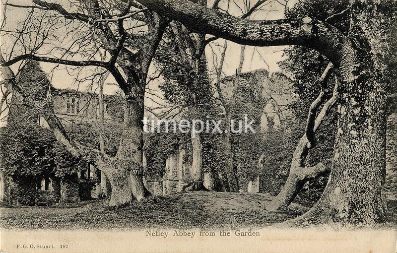 FGOS_00182, Edwardian postcard of Netley Abbey by FGO Stuart