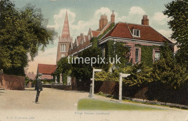 FGOS_01438, Edwardian postcard of Lyndhurst, Hampshire, by FGO Stuart, posted in 1909