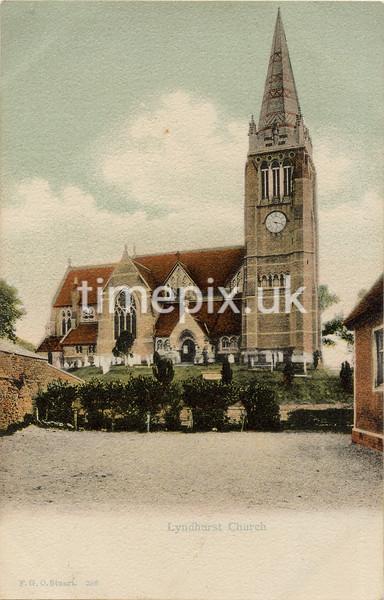 FGOS_00228, Edwardian postcard of Lyndhurst, Hampshire, by FGO Stuart c1905
