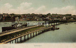 FGOS_00936, Edwardian postcard of the railway bridge and a paddlesteamer at Lymington by FGO Stuart