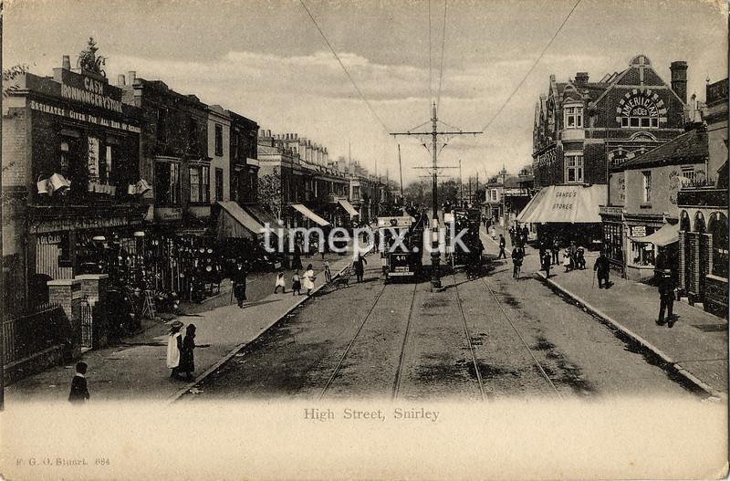 FGOS_00684, Edwardian postcard of Shirley, Southampton by FGO Stuart c1905