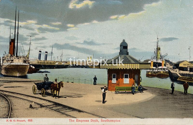FGOS_00468, Edwardian postcard of The Empress Dock, Southampton by FGO Stuart c1905