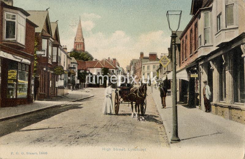 FGOS_01440, Edwardian postcard of Lyndhurst, Hampshire, by FGO Stuart posted 1908