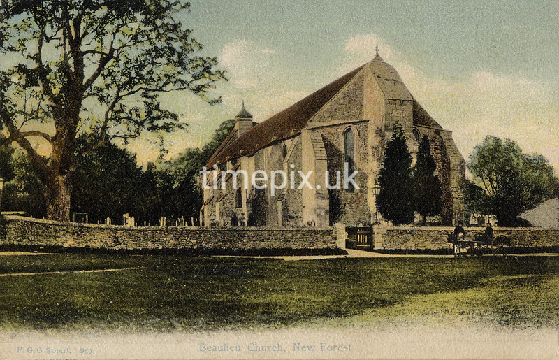 FGOS_00980, Edwardian postcard of Beaulieu church by FGO Stuart.