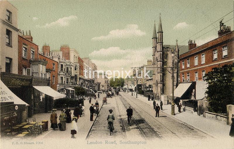 FGOS_01004, Edwardian postcard of London Road, Southampton by FGO Stuart c1905