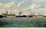 FGOS_01362, Edwardian postcard of ships at Southampton by FGO Stuart c1912