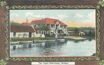 PC_Johnstone_2A, Edwardian postcard of  Lagan boat house, Belfast by J Johnstone