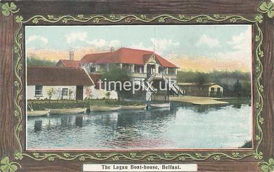 PC_Johnstone_2A, Edwardian postcard of  Lagan boat house, Belfast by J Johnstone