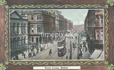 PC_Johnstone_11A, Edwardian postcard of Royal Avenue, Belfast by J Johnstone