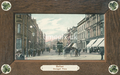 PC_Woolstone-221C, Edwardian postcard of Donegall Place Belfast by Woolstone Bros