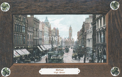 PC_Woolstone-221D, Edwardian postcard of High Street, Belfast by Woolstone Bros