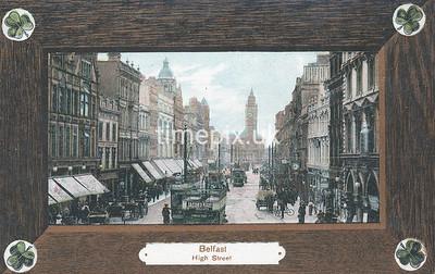 PC_Woolstone-221D, Edwardian postcard of High Street, Belfast by Woolstone Bros