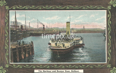 PC_Johnstone_4A, Edwardian postcard of the harbour, Belfast by J Johnstone