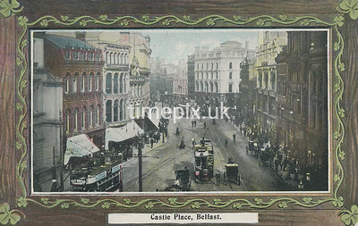PC_Johnstone_3A, Edwardian postcard of Castle Place, Belfast by J Johnstone