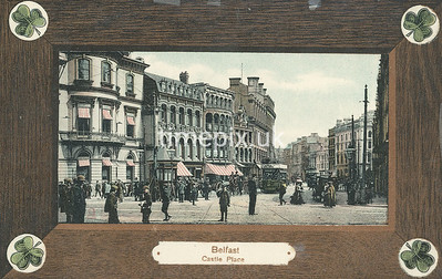PC_Woolstone-221B, Edwardian postcard of Castle Place, Belfast by Woolstone Bros