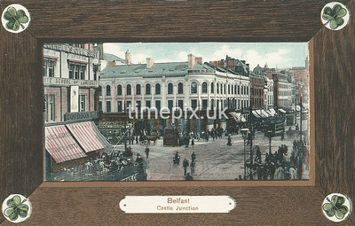 PC_Woolstone-221A, Edwardian postcard of Castle Junction, Belfast by Woolstone Bros