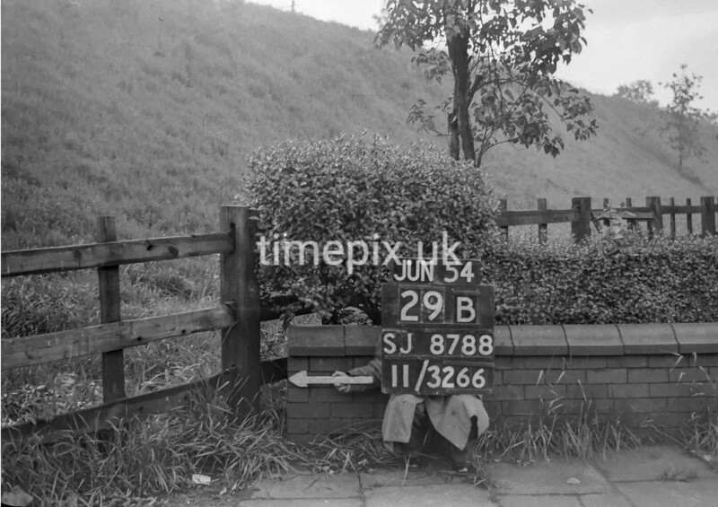 SJ878829B2, Ordnance Survey Revision Point photograph of Greater Manchester
