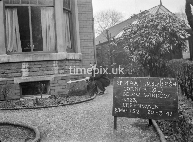 SJ829449A, Ordnance Survey Revision Point photograph in Greater Manchester