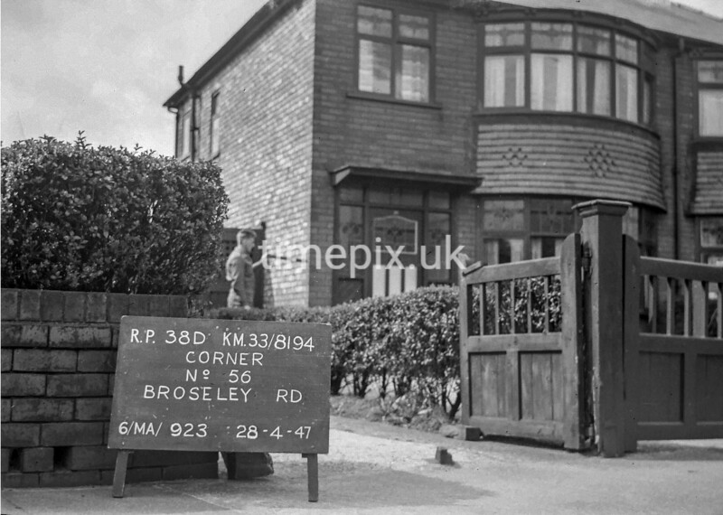 SJ819438D, Ordnance Survey Revision Point photograph in Greater Manchester