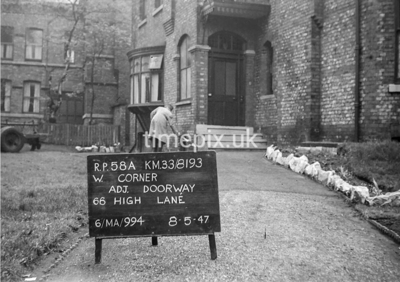 SJ819358A, Ordnance Survey Revision Point photograph in Greater Manchester