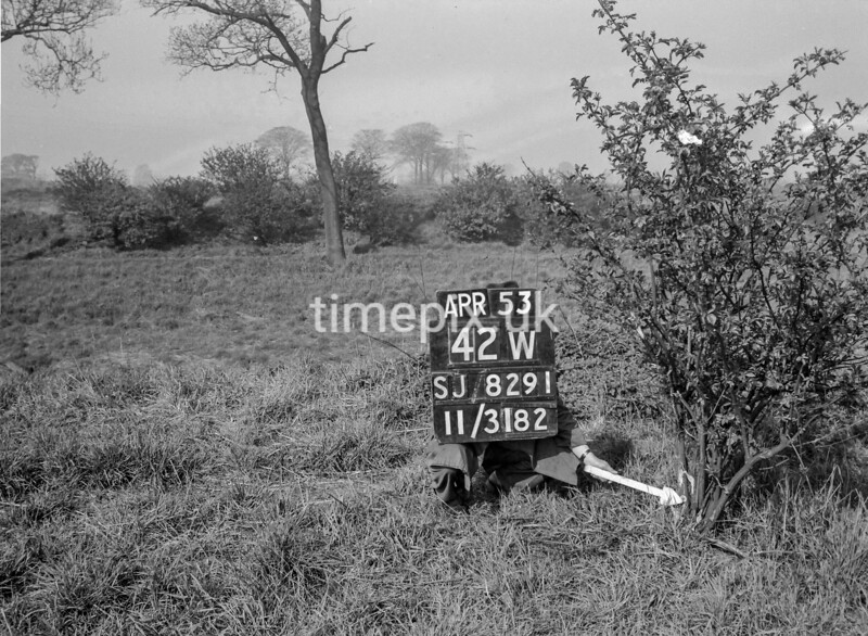 SJ829142W, Ordnance Survey Revision Point photograph in Greater Manchester