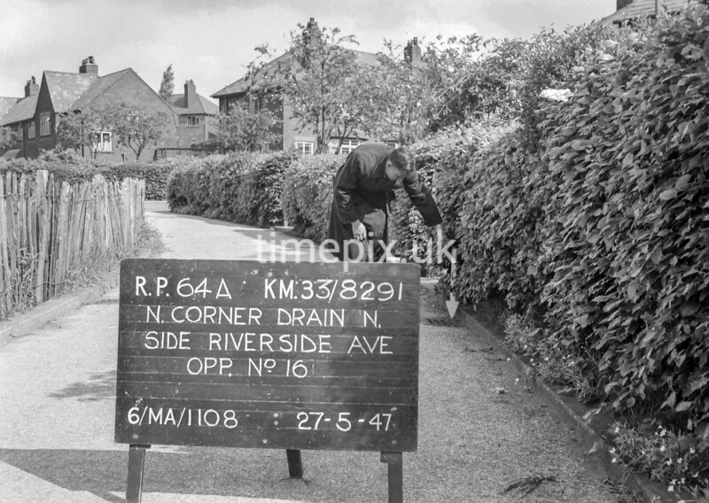 SJ829164A, Ordnance Survey Revision Point photograph in Greater Manchester