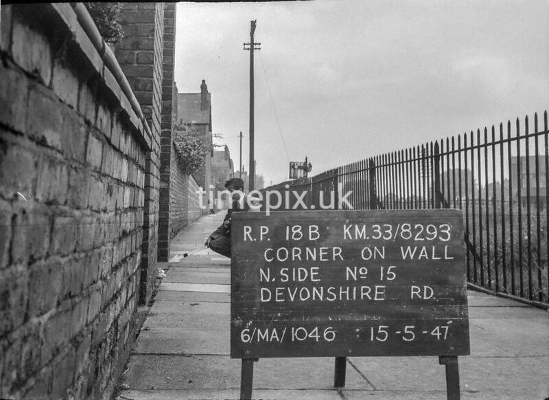 SJ829318B, Ordnance Survey Revision Point photograph in Greater Manchester