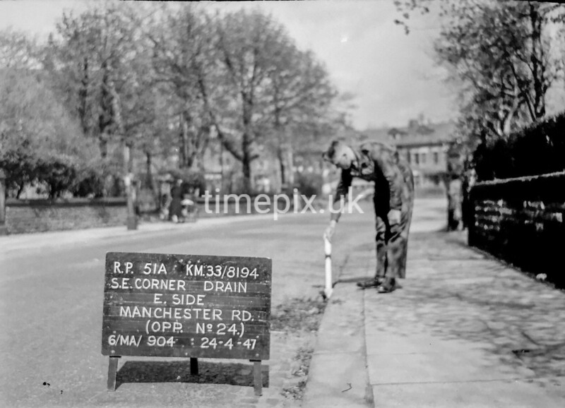 SJ819451A, Ordnance Survey Revision Point photograph in Greater Manchester
